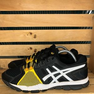 asics 15s-sx-1004 black and yellow men's size 9